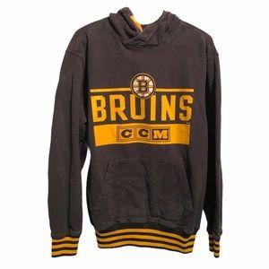 CCM Boston Bruins Hoodie Pullover Sweatshirt Lg
